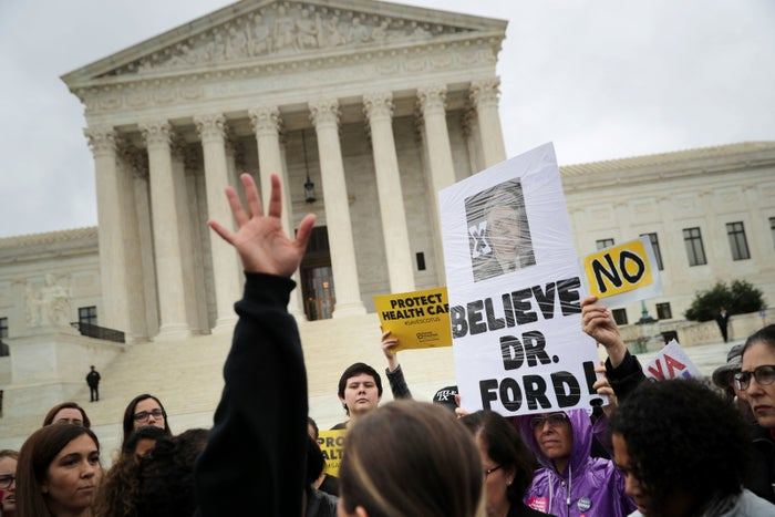 Protesters rally in front of the Supreme Court this week.