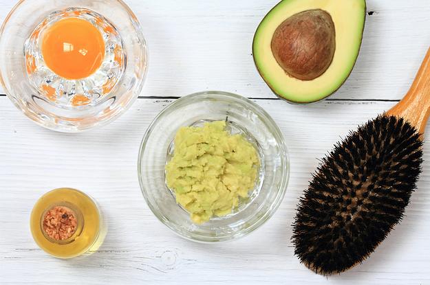 mascarilla para el cabello de aguacate huevo y aceite de oliva