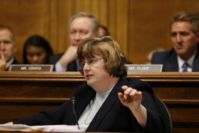 Rachel Mitchell, the outside counsel hired by Republicans on the Judiciary Committee, asks questions of Christine Blasey Ford.
