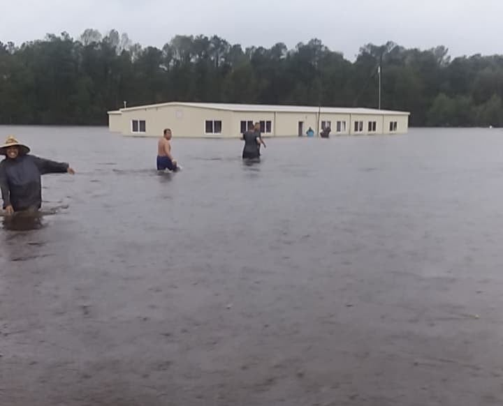 Farmworkers in Kinston, North Carolina, woke up to find their camp flooded on Sept. 15, 2018.
