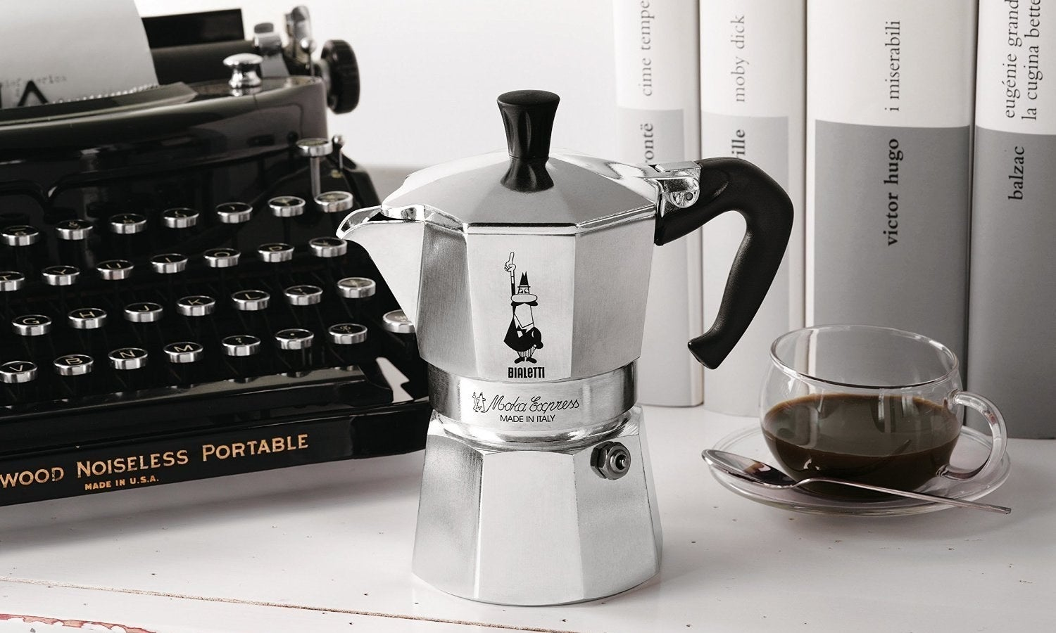 """Get it from Amazon for $39.99 (available in six colors; also available in a larger size).Promising review: """"We ditched every fancy coffee/espresso maker years ago in favor or our Bialetti stovetop espresso maker. I get a hot, strong espresso in two minutes, and there is something hands-on satisfying about making an espresso with such simplicity. This is an inexpensive purchase, and they last forever. I had my first one for five years, and only replaced a rubber ring ($5) once. I have both the large and standard size, and when used with a plug-in milk foamer, I make killer lattes at home every day. If you like your coffee drinks hot, the Bialetti is the way to go. Stovetop temp, vs. the alternatives (pod machines) which never make a truly hot beverage, are a pain to clean and produce a lot of waste. I highly recommend this product — it's my favorite kitchen item."""" —Michelle Wheeler"""