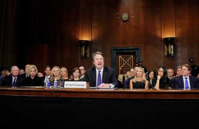 Supreme Court nominee Brett Kavanaugh testifies before the Senate Judiciary Committee on Sept. 27.