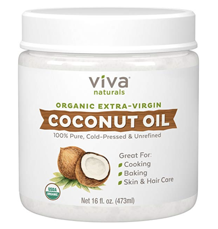 """—adim41fe56559""""Coconut oil. Mainly for removing tough mascara."""" —tiffanil""""My makeup remover is just regular coconut oil paired with a simple wash to keep my pores unclogged. It's skincare on a budget!"""" —nadiapa""""Literally just pure coconut oil and hot water to wipe it off."""" —ashleighe465ca99f7Get it from Amazon for $10.99."""