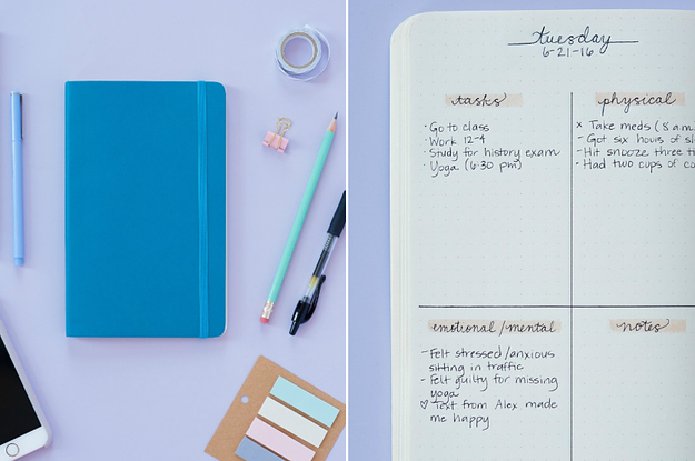 Here\'s How To Use A Bullet Journal For Better Mental Health