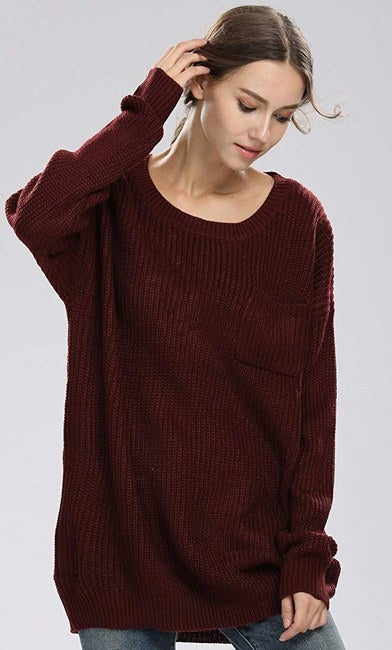 """The sweater comes in one size and typically fits sizes XS-L; it will fit oversized if you wear XS-M, and if you usually wear a large, it should be regular fit for you.Promising review: """"I love everything about this sweater! I needed an oversized, loose sweater to wear with my knee-high boots, and I got exactly that. I'm 5 feet and about 114 lbs. The sweater is thick, warm, and the color is great."""" —Biance Price: $22.98+ (available in three colors)"""