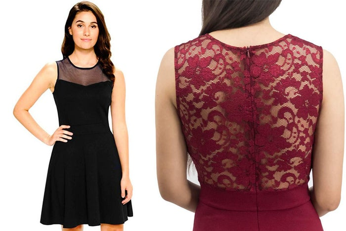 """Here's what one happy reviewer has to say about it: """"This is one of my new favorite dresses. The material is nice and thick without being too heavy, and the quality is very nice. It doesn't feel cheap at all despite the $20 price tag. It's very versatile and can easily be dressed up or down. Love it!"""" —Spudma"""