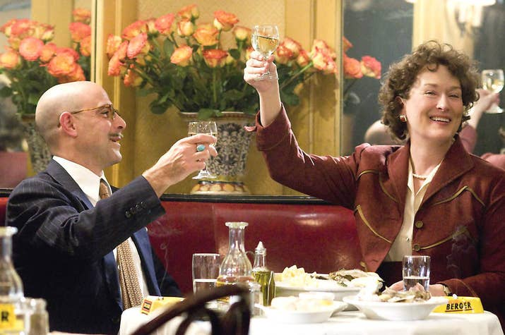 """""""I absolutely adore the love and friendship Meryl Streep and Stanley Tucci portrayed in their characters' relationship. It's the first time I've seen a rom-com with a couple that felt real and honest.""""– Samantha Hoover via Facebook"""
