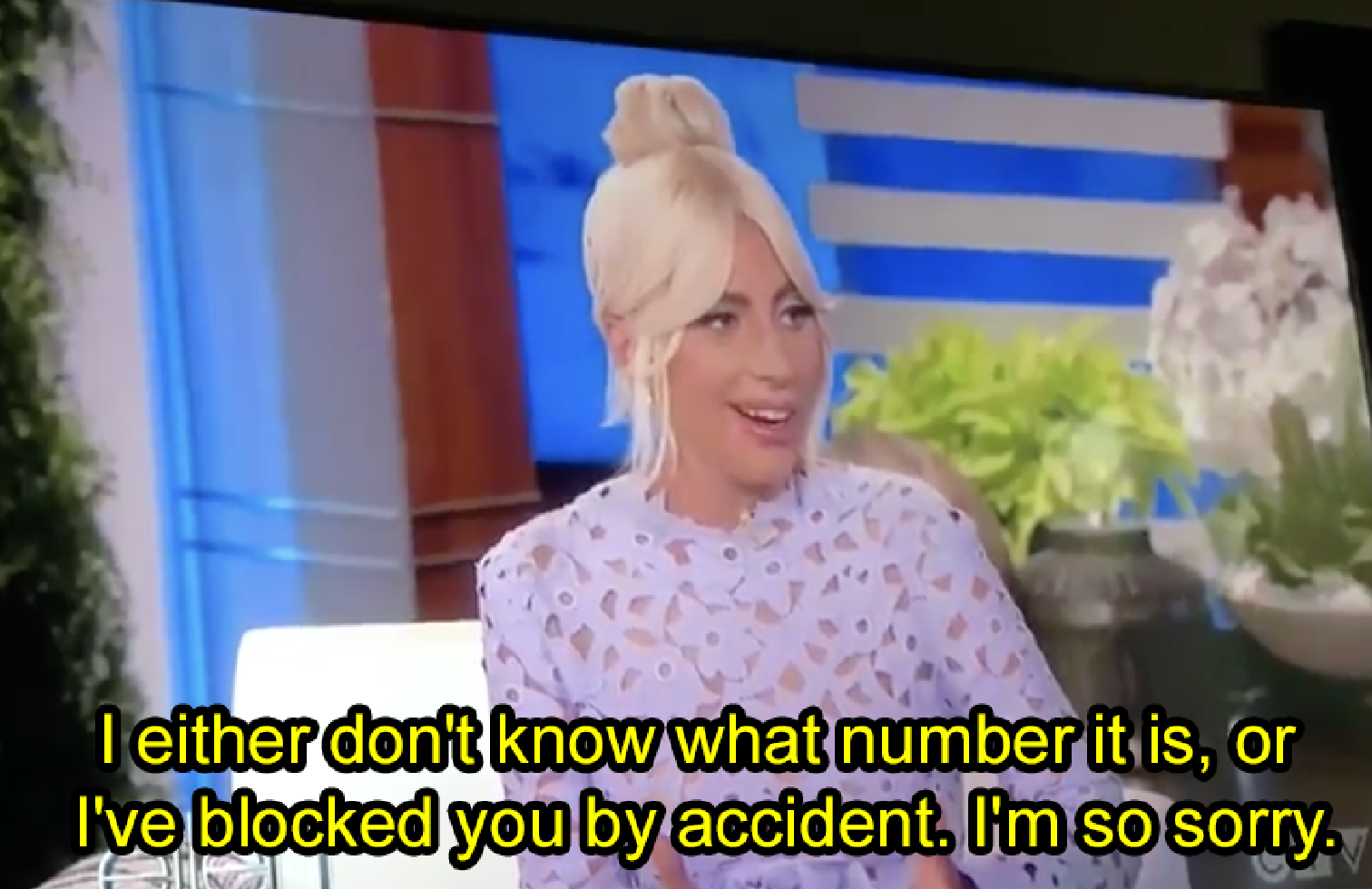 Ellen DeGeneres Called Out Lady Gaga For Always Ignoring Her Texts And I'm Nervously Laughing