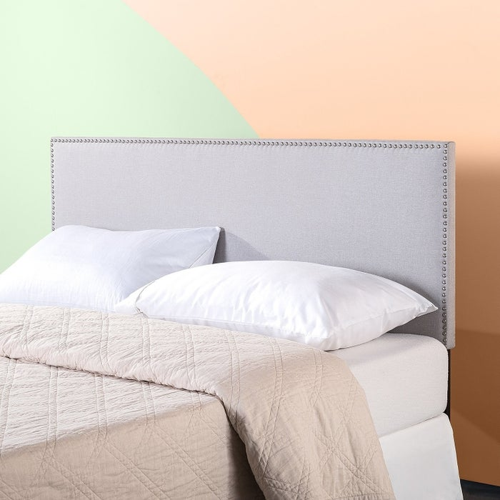 """Promising review: """"The quality of this headboard is great for the cost. I wanted something simple but different. It works really well with my platform bed, even though my platform doesn't have the option to attach a headboard. I also like the fact that the leg length can be adjusted. That was a major plus."""" —Kindle CustomerPrice: $74+ (available in three colors and two sizes)"""