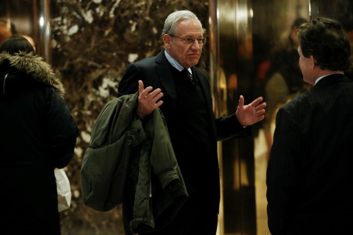 Journalist Bob Woodward in Trump Tower in January 2017.