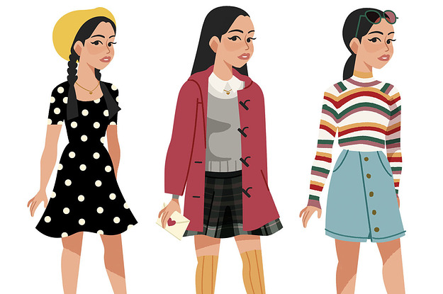 An Artist Illustrated All Of Lara Jean S Outfits From To All The Boys And They Re So Beautiful Tom Bach