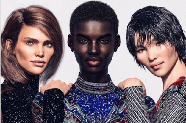 Balmain 39 S New Fashion Campaign Is Being Fronted By Three Digital Models And People Have Some