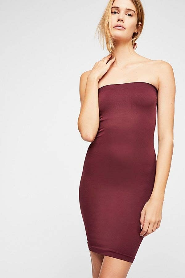 921dc360e5d9 A seamless tube slip dress so you feel daring enough to sneak a fourth  piece of cake. You know everyone wants to, too.
