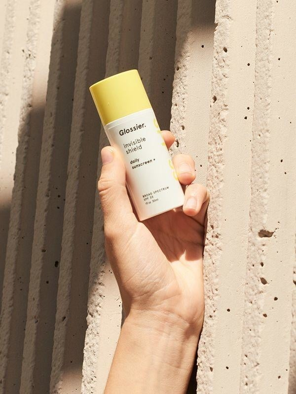 Long gone are the days of slimy, glue-like sunscreen. Glossier's invisible shield gives beautiful, grease-free protective glow! Add this to your skincare routine now — future-you will THANK YOU.Get it from Glossier for $25.And check out even more of our FAVORITE Glossier products.