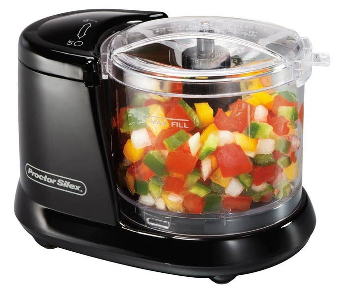 """It has pulse speed control and a 1.5-cup capacity. The bowl, lid, and blade are dishwasher-safe.Promising review: """"For this price, I am satisfied with the compact size and easy usage."""" —AngelaLGet it from Walmart for $9.88."""