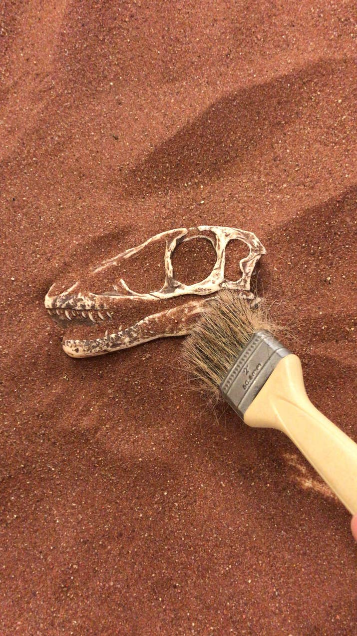Espaço para brincar de escavação