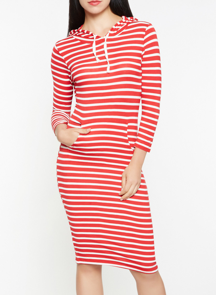 0c6776d3664 25. A striped hoodie dress that s both comfy and fashionable — plus you can t  beat that pouch pocket.