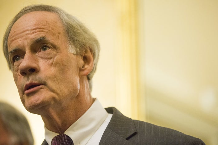 Sen. Tom Carper at a news conference on Capitol Hill on Aug. 21, 2018, in Washington, DC.