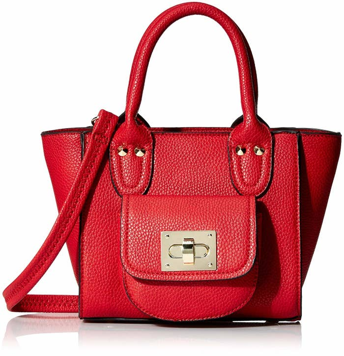A posh red mini bag with a turnlock closure so you can have that  effortlessly stylish vibe on lock. 501c3530f2e32