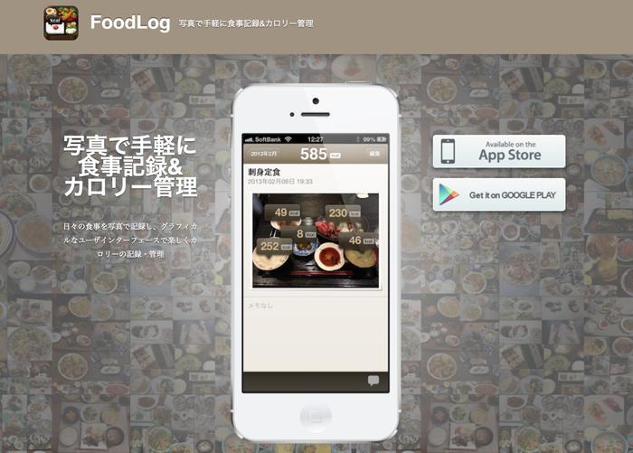 「FoodLog」というアプリなんですけど、ものすごく画期的なアプリだなと驚きました。