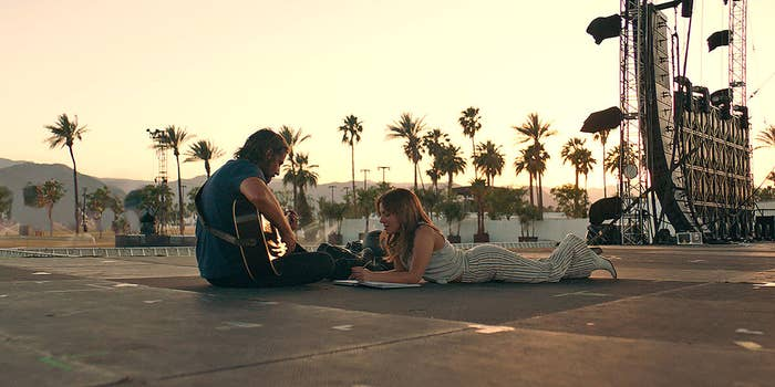 Jack (Bradley Cooper) and Ally (Lady Gaga) in A Star Is Born.