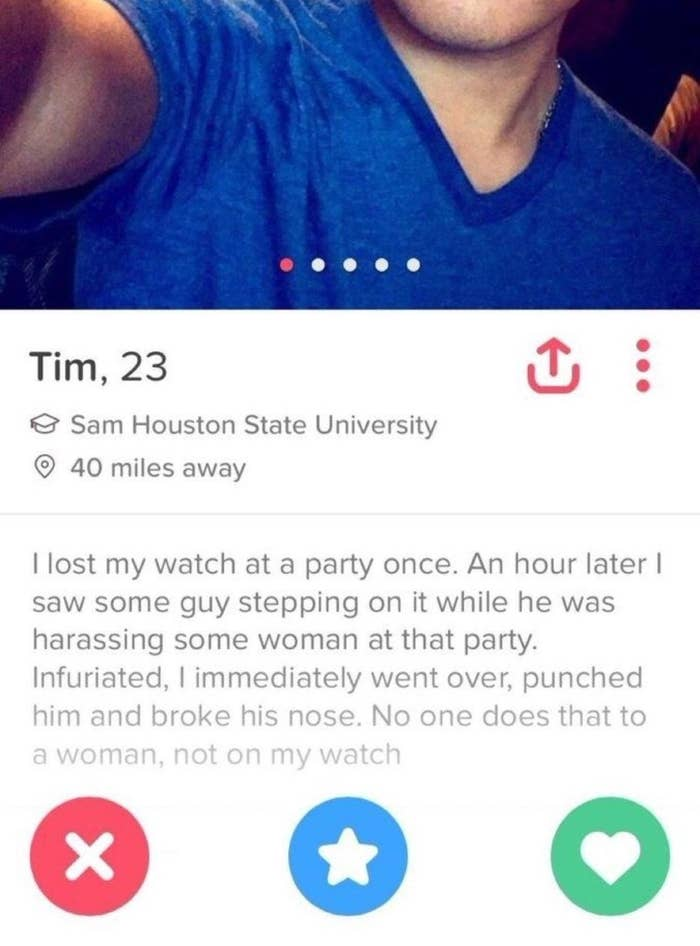 21 Tinder Profiles That You'd Swipe Right On Just Because Of