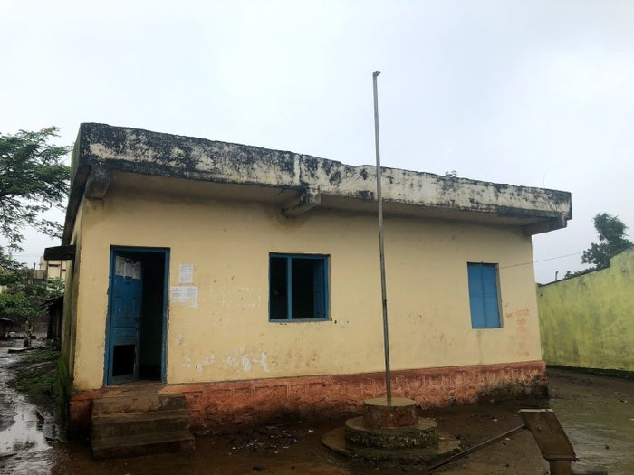 The Rainpada village council office where a mob lynched five men.