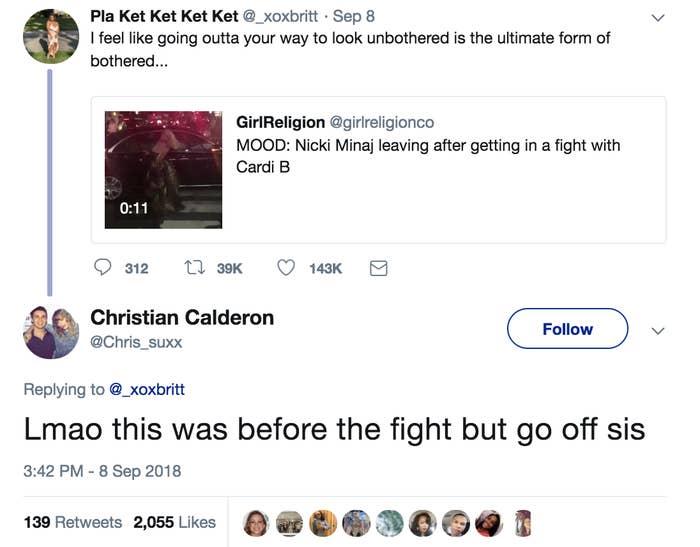 Nicki Minaj Liked These Tweets About The Cardi B Fight