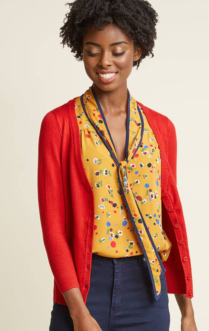 c5b5a289128 A colorful cardi so everyone will know you re full of bright ideas.