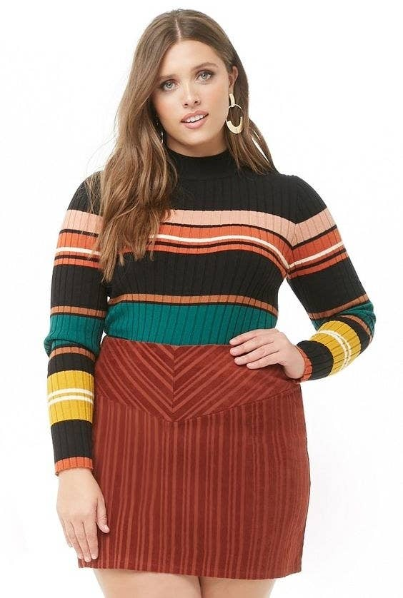 eee5b2790538 A striped corduroy skirt that'll add some unexpected texture to your  ensemble — which is fancy talk for
