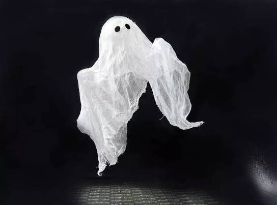 The process for making this ghost is a lot like paper mache — so get the kids involved, because they'll love how messy it is!
