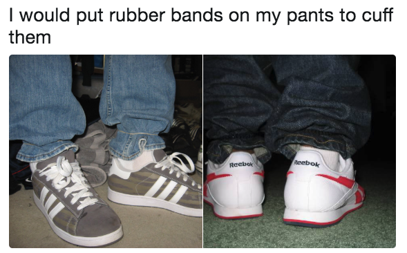 pants with rubber bands on the cuffs