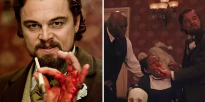 FYI: In Django Unchained, Leo DiCaprio accidentally cut his hand open during a scene, but he kept acting.