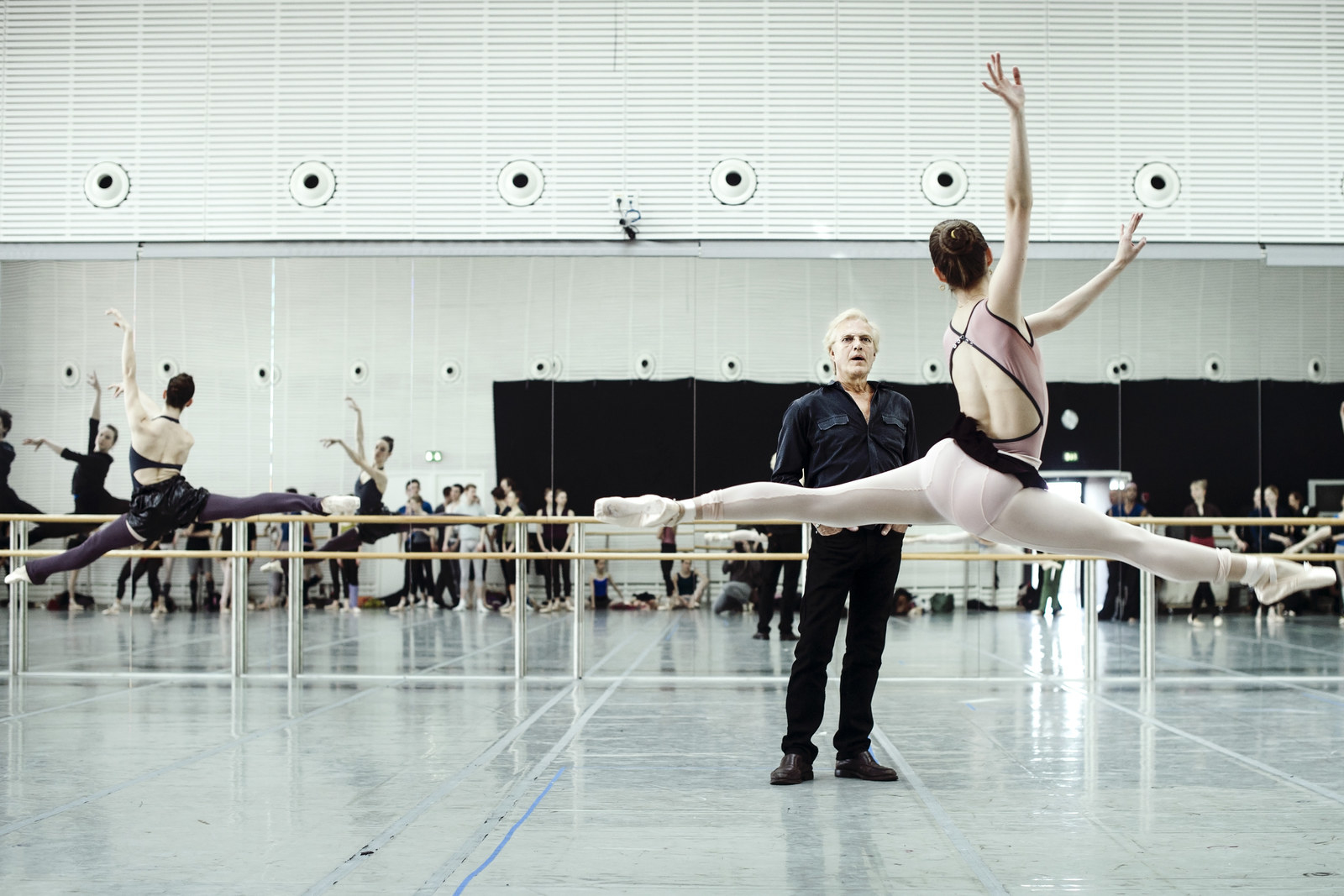 Peter Martins and the New York City Ballet rehearse in Copenhagen, April 2013.