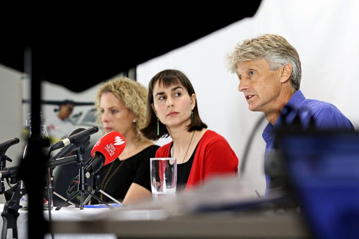 (L-R) Dr Christine Rufener, Dr Beth O'Connor and Dr Paul McPhun from Médecins Sans Frontières.