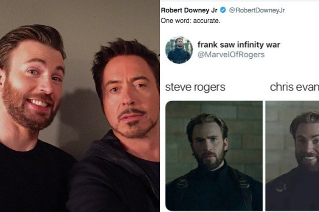 17 Times Robert Downey Jr  And Chris Evans Were So Cute On Social Media