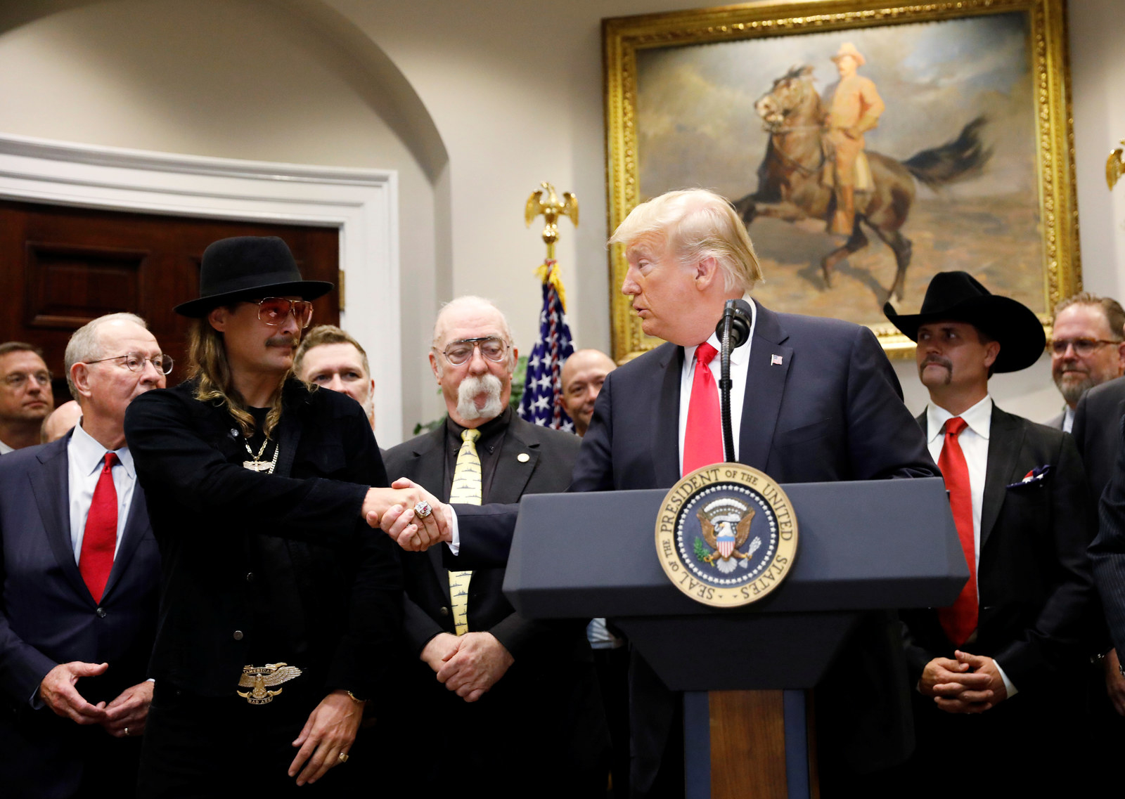 Kid Rock Visited The White House Again And People Made Memes Because Why Not