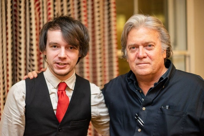 Bannon with Michael Brooks.