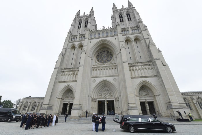 The funeral of Sen. John McCain was held at Washington National Cathedral last month.