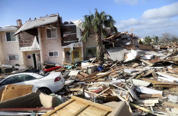 The coastal township of Mexico Beach, Florida, lays devastated on Oct. 11.