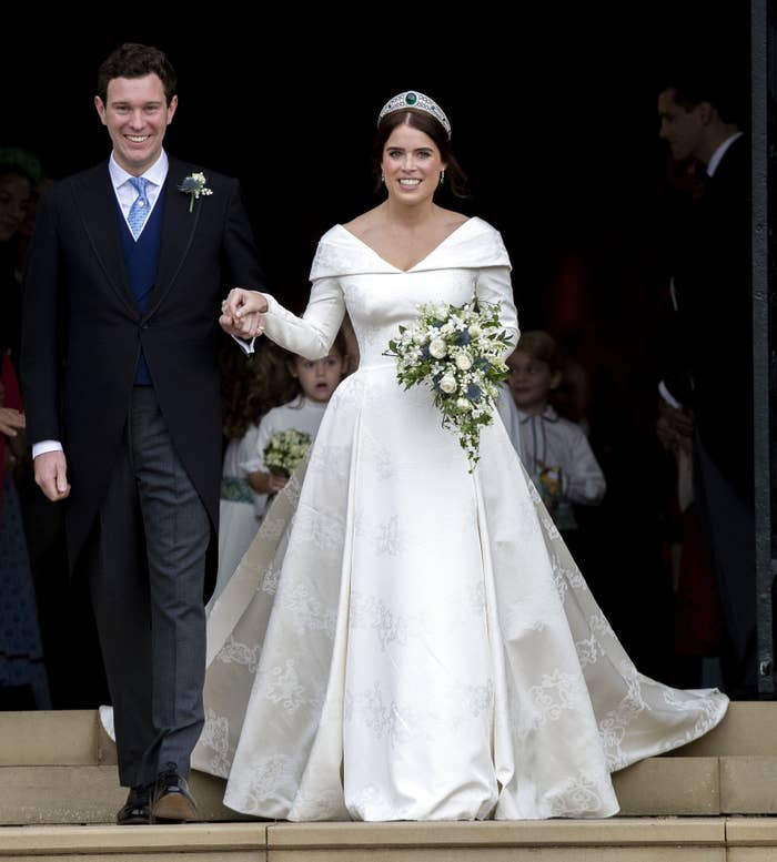 Eugenie Wedding Dress.Princess Eugenie Made Sure Her Wedding Dress Showed Her Scoliosis