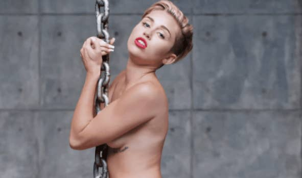 """About """"Wrecking Ball,"""" she said, """"It's my worst nightmare, that song being played at my funeral — that is my worst nightmare."""" For """"Party In The USA,"""" one time she was at a Top Shop party and the DJ asked if she wanted him to play any of her songs. Miley said he could play anything BUT """"Party In The USA."""" Good news is at that same party she told that same DJ to play eternal bad girl bop, """"Can't Be Tamed."""" Taste."""