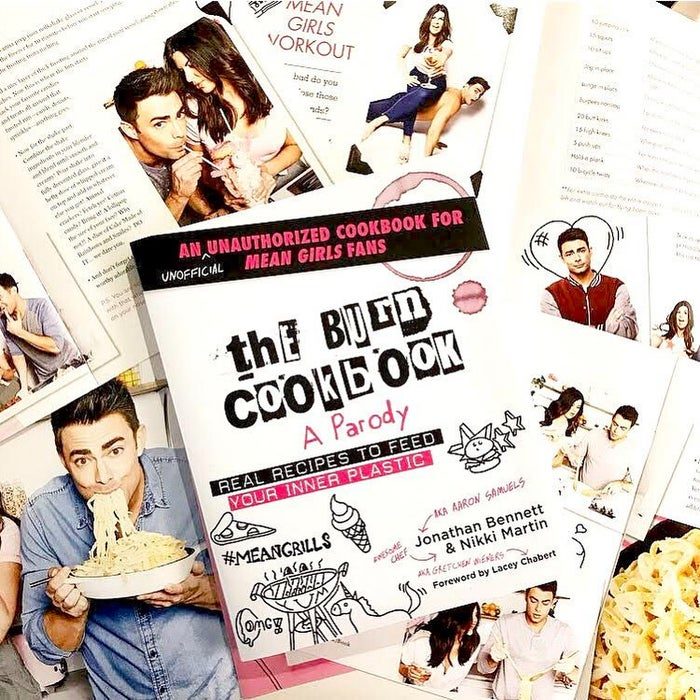 And yes, that Jonathan Bennett is the same Aaron Samuels who looks significantly sexier with his hair pushed back. ALSO! The foreword to this cookbook is written by Lacey Chabert, aka Gretchen Wieners herself.