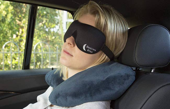 "Promising review: ""This sleep mask is amazing. I have had like 20,493 masks, and either lose them or they start to break somehow. This one seems very durable and covers my nose so well that no light gets in! It's perfect for my face shape. I'm extremely happy with this product!"" —MollyO