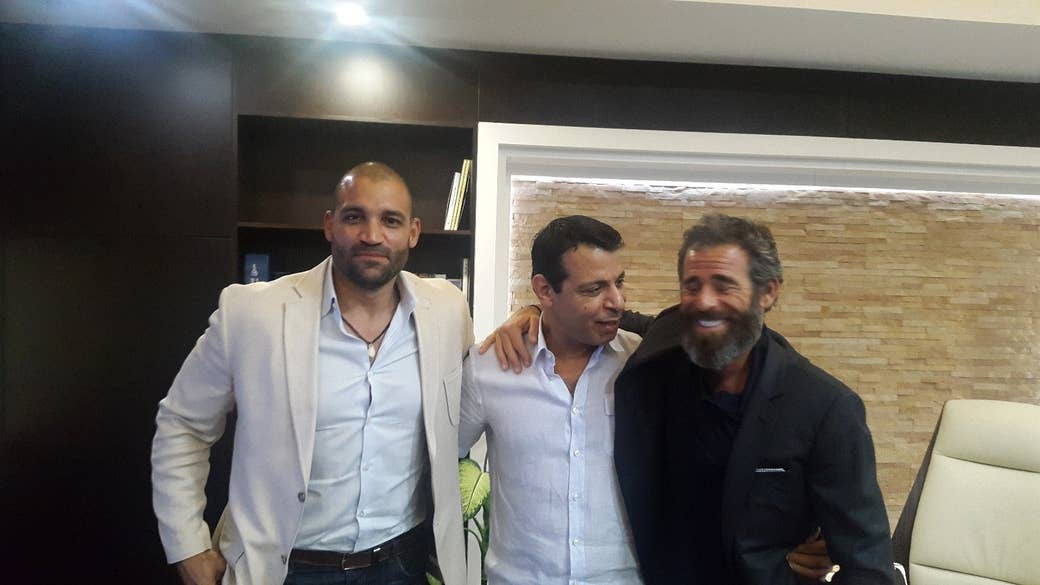 Left to right: Isaac Gilmore, Mohammed Dahlan, and Abraham Golan.
