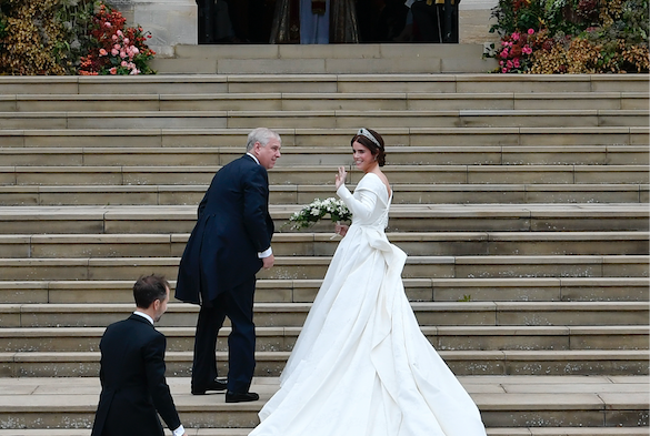 "This time Princess Eugenie, daughter of Prince Andrew and ninth in line to the throne, married Jack Brooksbank in St George's Chapel at Windsor Castle.(In case you missed it, the day before the wedding, the royal family's official Twitter account erroneously referred him as ""Mr Jacksbrook"".)If you want to read up, here's a handy explainer to tell you about the ins and outs of the wedding and how the newlyweds fit into the upper echelons of British society. In the meantime, let's move on to celeb spotting."