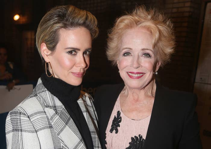 Sarah is 43 while Holland is 75.