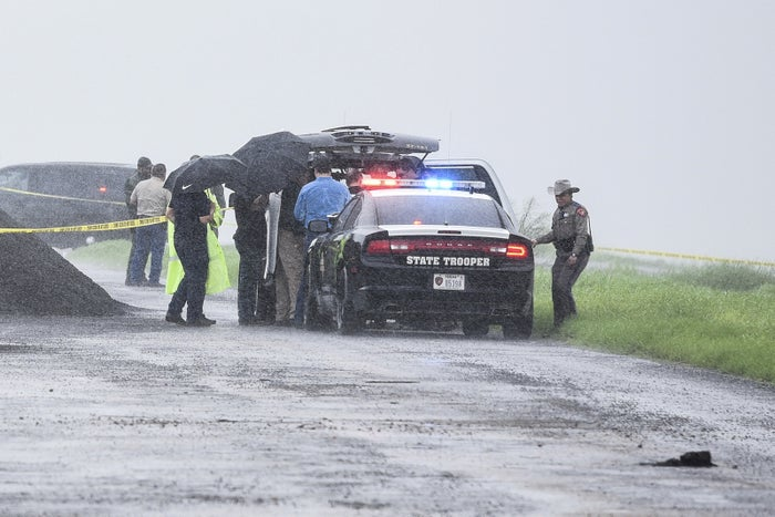 The scene where the body of a woman was found north of Laredo, Texas, on Sept. 15, 2018.