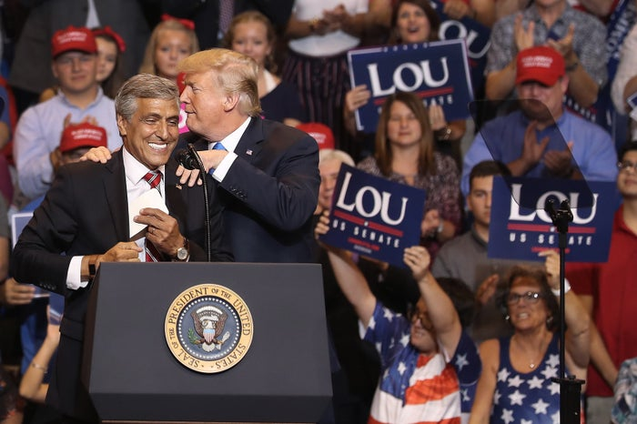 Trump campaigning with Rep. Lou Barletta in Pennsylvania.