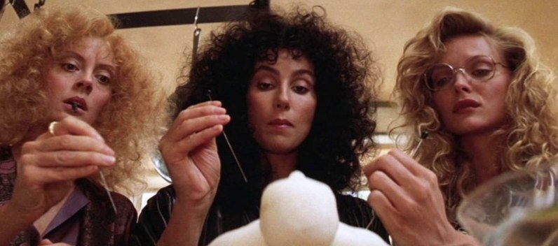 What it's about: Three women fall for a mysterious man, who reveals them to be witches. Fun Fact: Cher was originally offered the role of Jane but wanted to play Alexandra instead. Susan Sarandon didn't know they switched parts until she showed up to set.Where to Watch: Amazon (rent or buy)